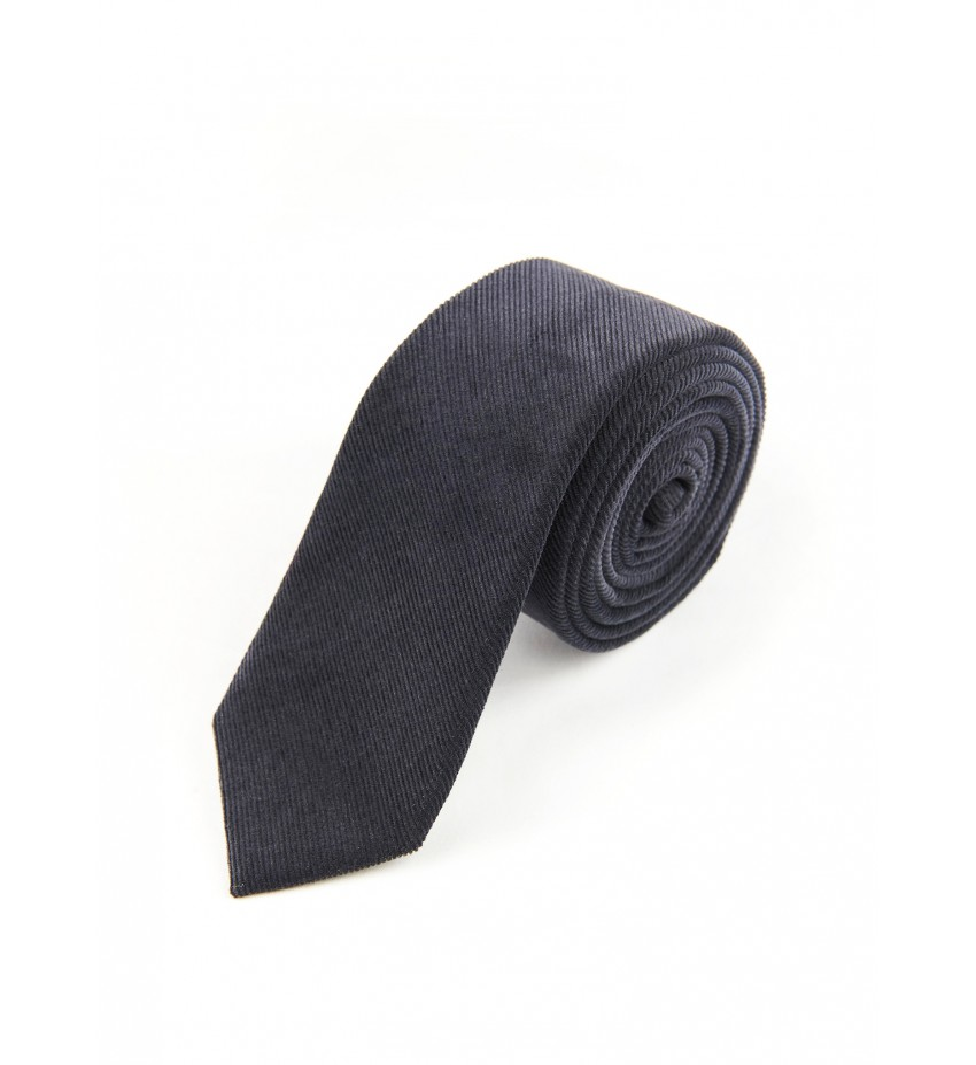 Cravate uni velours ANTHRACITE