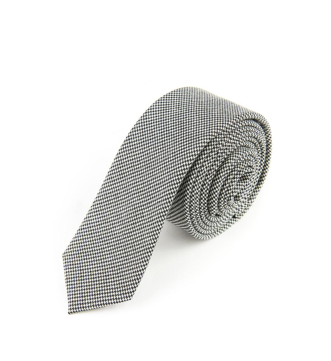 Cravate laine MINI PIED DE POULE