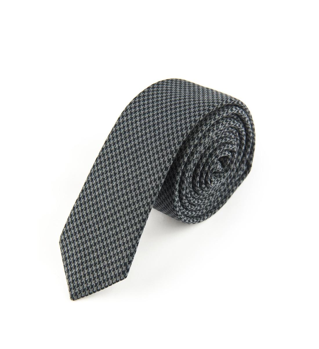 Cravate laine PIED DE POULE