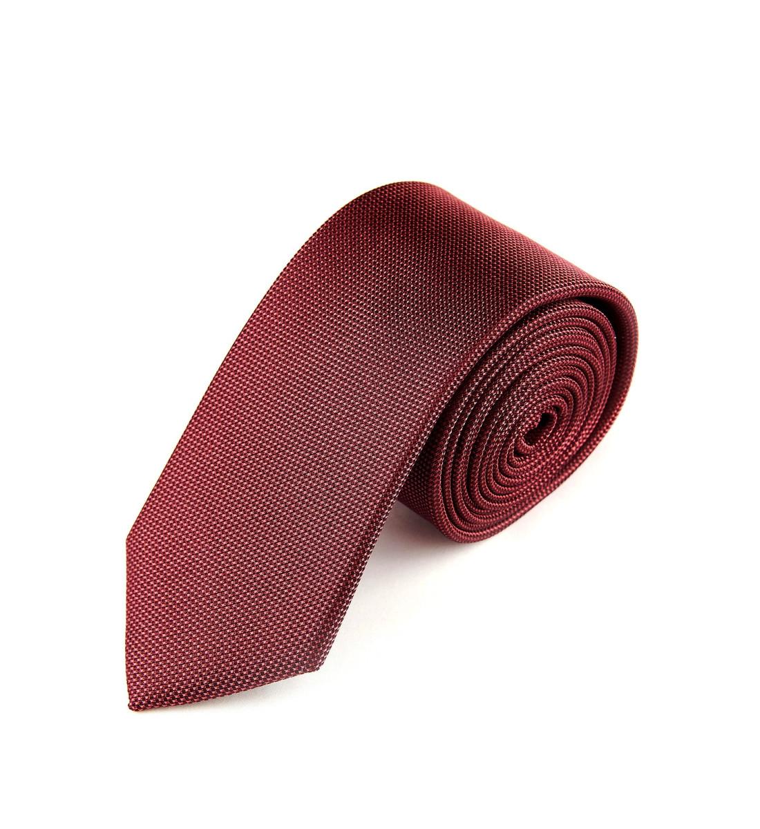 Cravate unie soie BORDEAUX