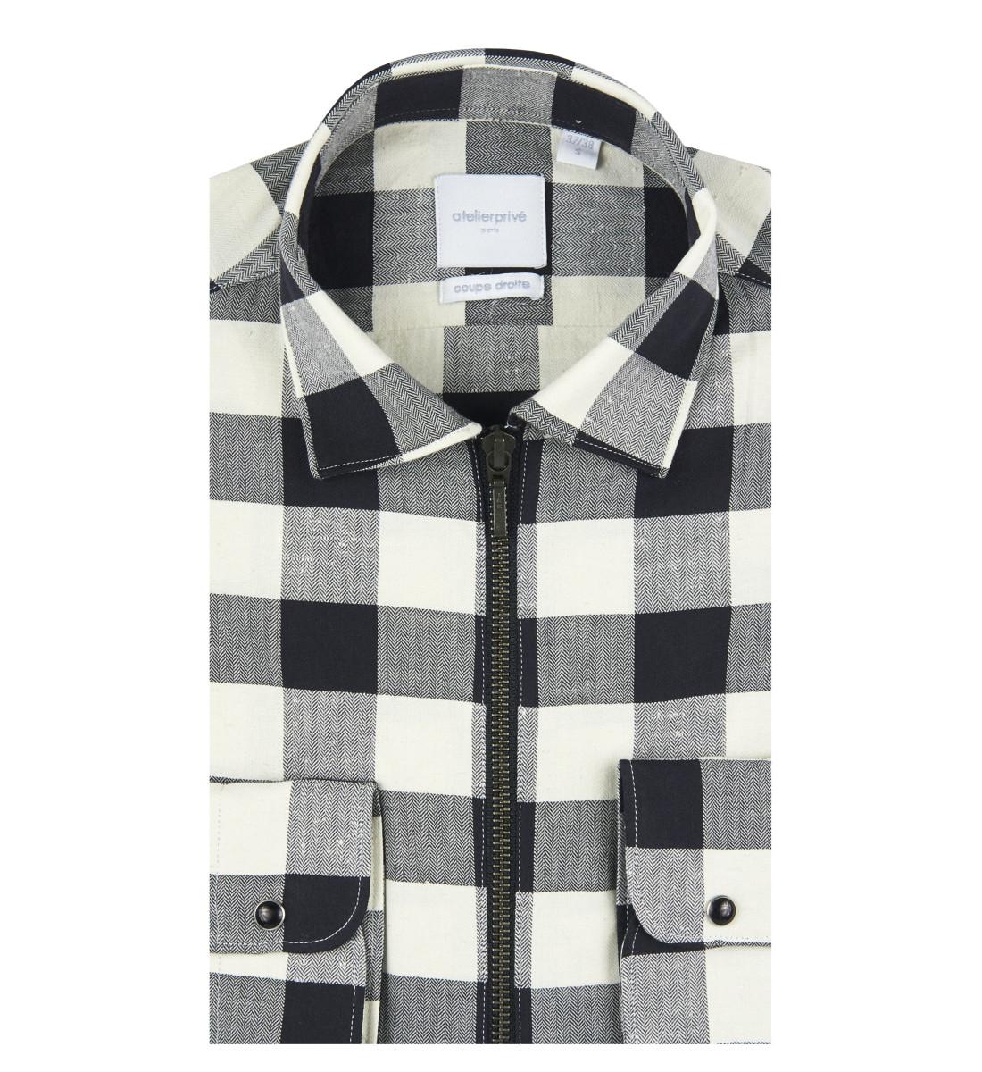 Chemise zippée RIKKU coupe droite