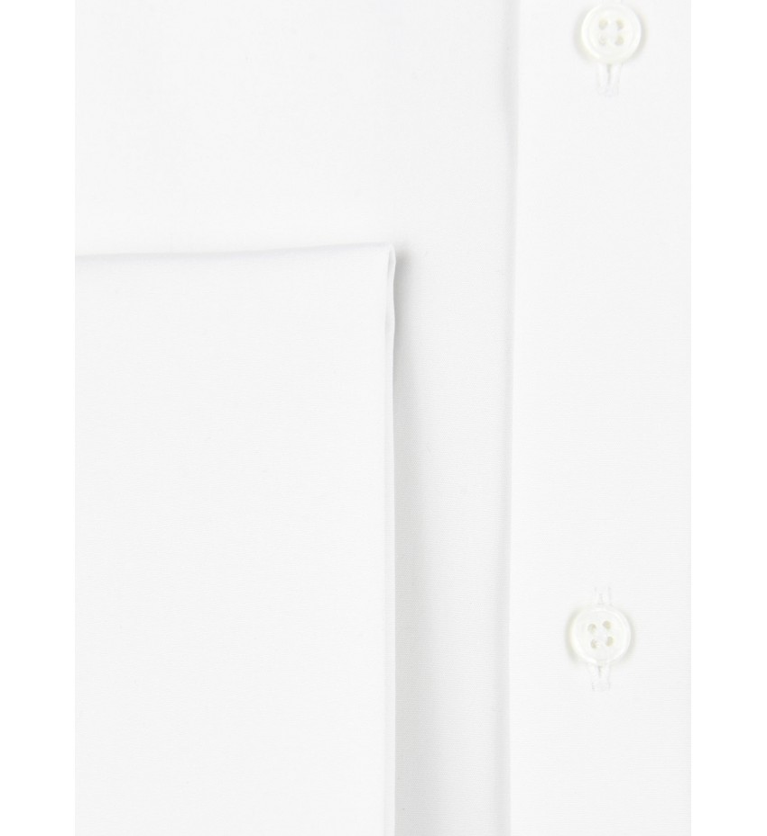 Chemise ajustée poignets mousquetaires BLANC