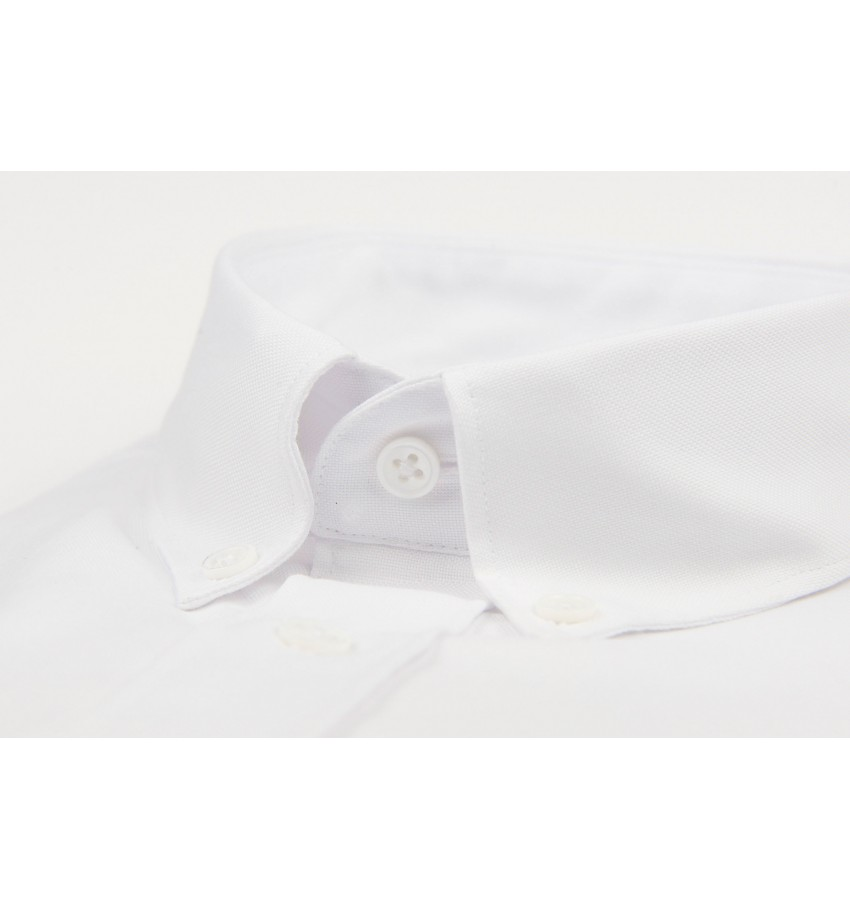 Chemise coupe droite oxford BLANC