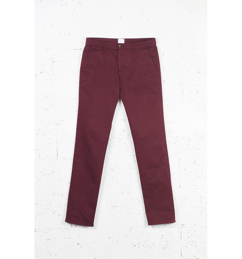 Pantalon CHINO homme BORDEAUX