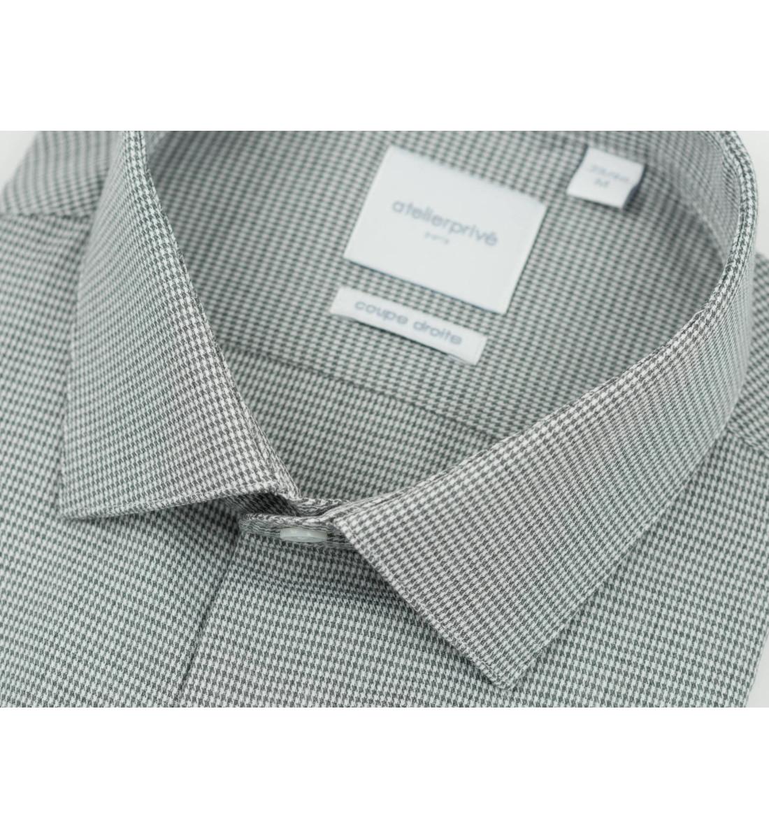 Chemise coupe droite TEOPHILE gris