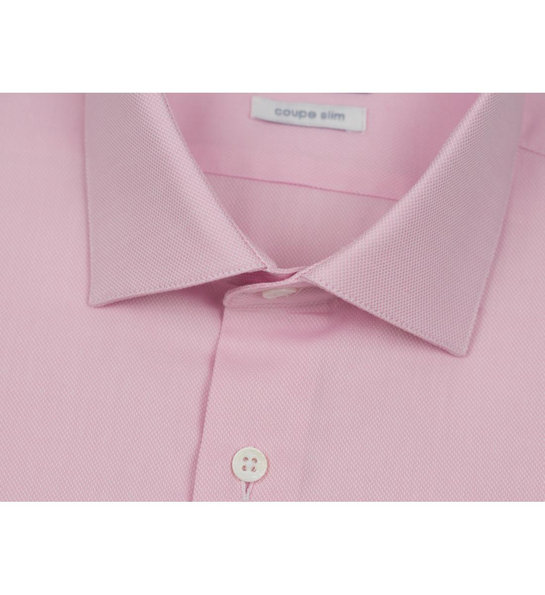 Chemise cintrée en tissu pointe diamantée ROSE