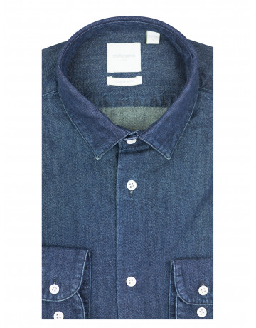 Chemise slim fit en denim brut