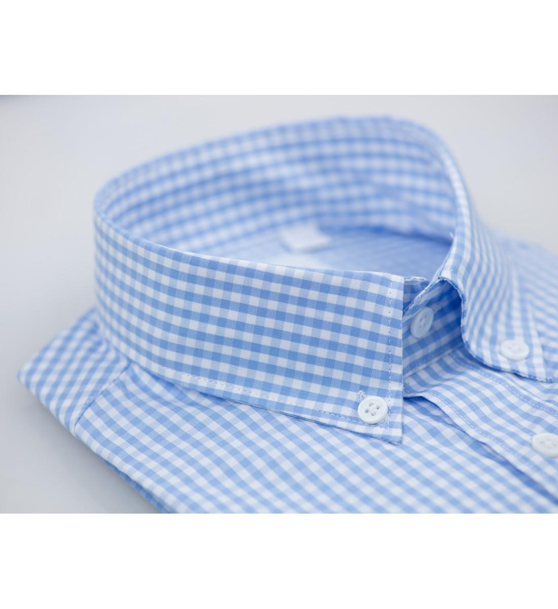 Chemise manches courte coupe droite VICHY