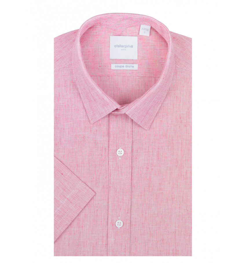 Chemise manches courte coupe droite VACOLIN rouge