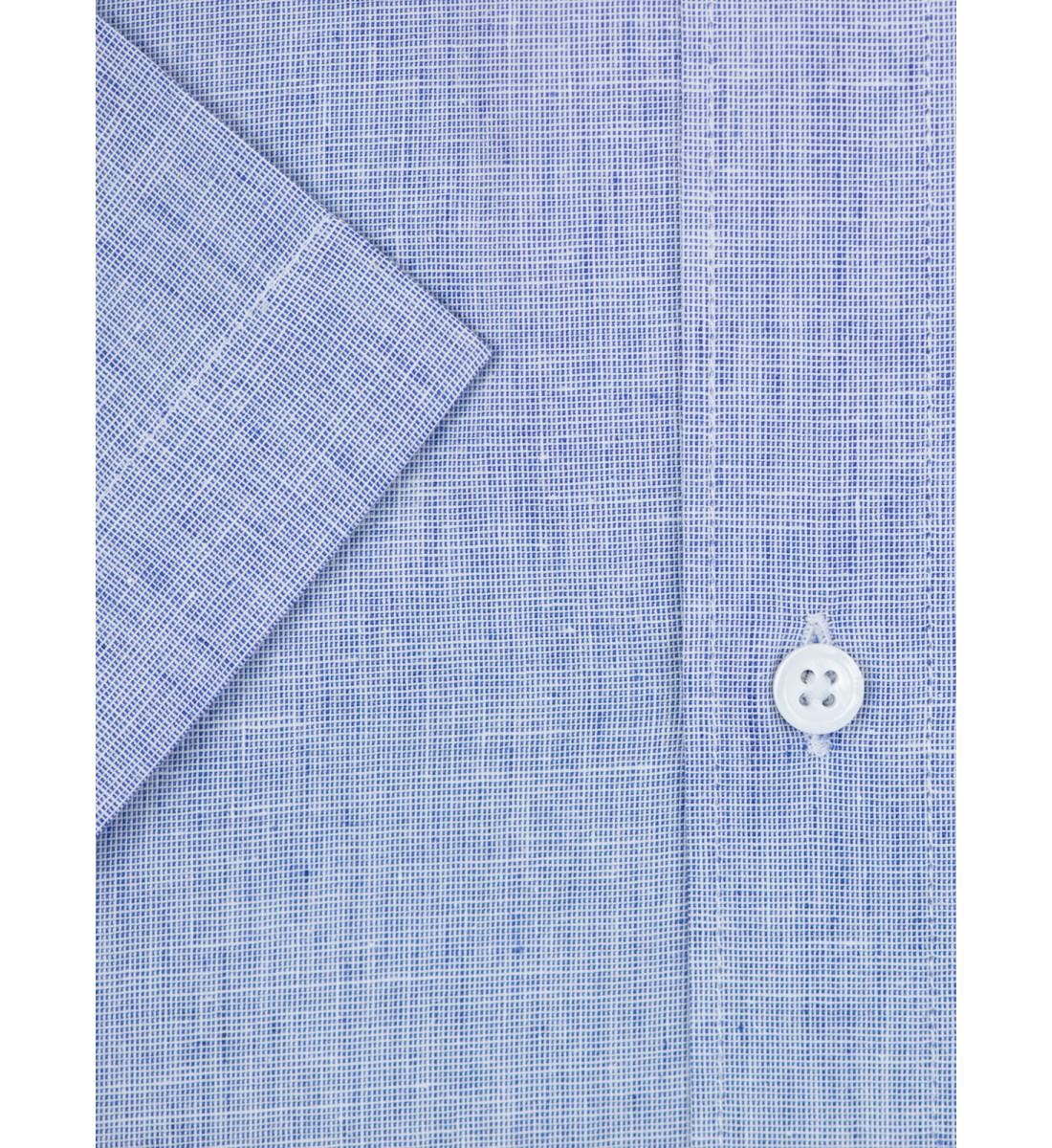 Chemise manches courte coupe droite VACOLIN bleu
