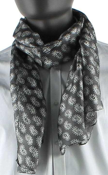 Echarpe à motifs cachemire en soie - atelierprivé 86e454eb99f