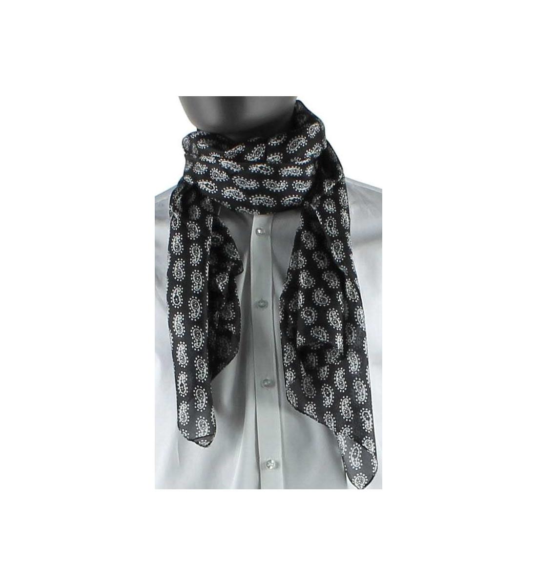 0d88c752fa0e Echarpe à motifs cachemire en soie - atelierprivé