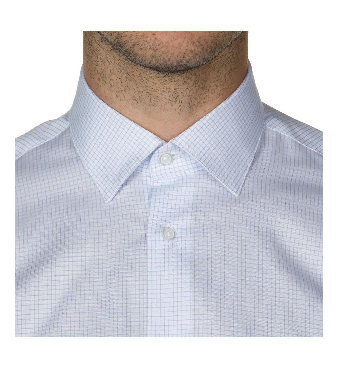 Chemise cintrée à mini carreaux CIEL