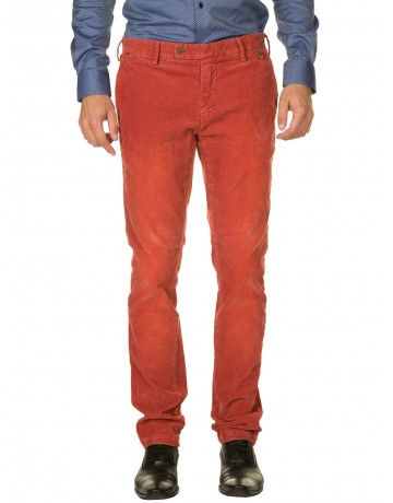 Pantalon en velours BRIQUE