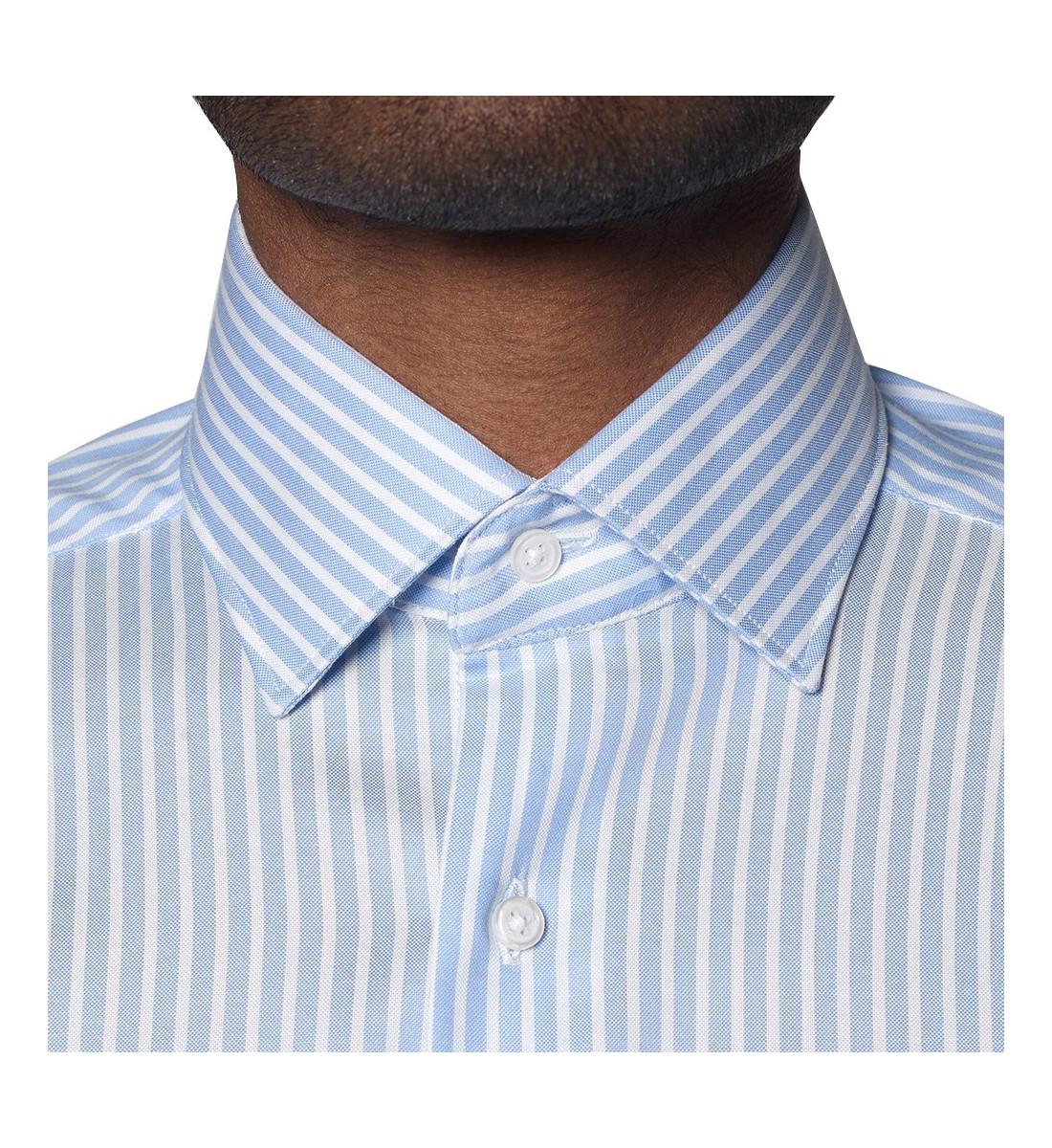 Chemise cintrée à rayures larges CIEL
