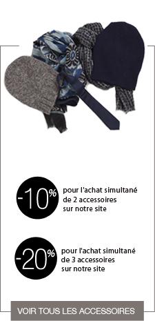 jusqu'à 20% de reduction sur les accessoires de mode