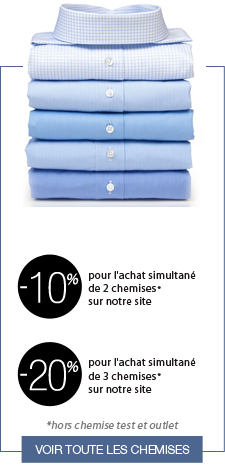 jusqu'à 40% de reduction sur les chemises